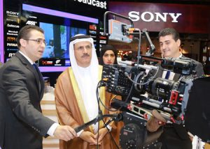HE Sultan bin Saeed Al Mansouri, the UAE Minister of Economy, opens CABSAT's 20th edition.