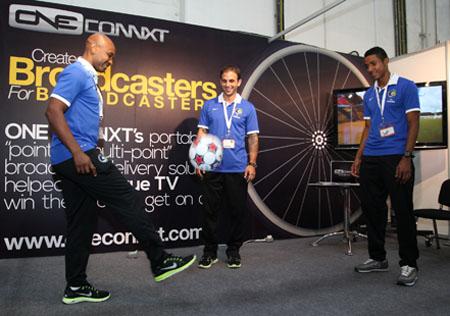 CABSAT welcomes soccer stars