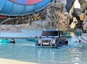 Top Gear films segments in the UAE.