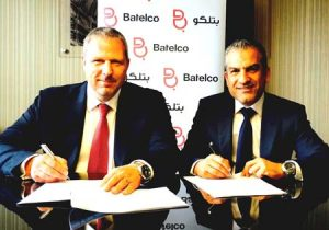 From left: Michael Martens, CEO and Managing Director, Riedel Networks With Adel Daylami, General Manager, Batelco.