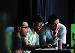 Centre: Amir Endalah, filmmaker.