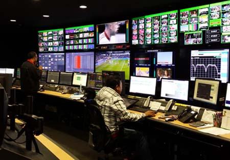 Globecast Media factory, Singapore.