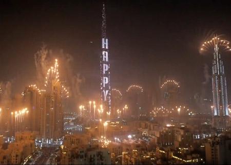 Cobham captures new year firework's at Burj Khalifa