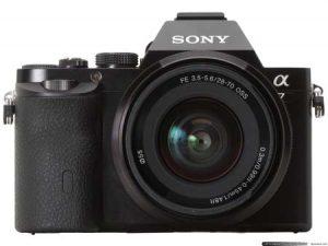 The Sony Alpha 7S.