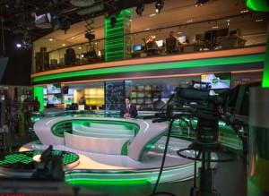 Alarab news studio in Bahrain.
