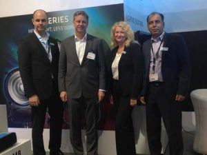 From left: Marcus Zeiler, Dr Jorg Pohlman, Sigrid Muller and Sohail Shafi.