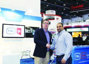 From left: Bruce MacGregor of TSL with Raad Haddadin, CTO of Al Aan TV.
