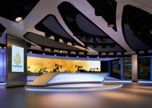 AL Jazeera London news studio.