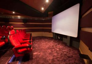 The newly built 4K screening room in twofour54.