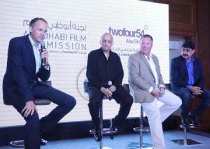 Paul Baker, Mukesh Bhatt and Muck Flannigan at the Mumbai film event.