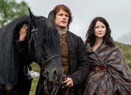A still from the series Outlander.