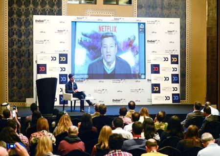 Ted Sarandos spoke via Skype at DIFF.