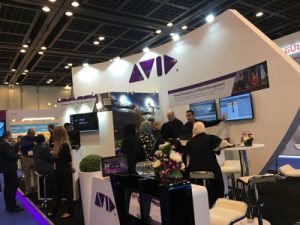 The Avid booth at CABSAT 2016.
