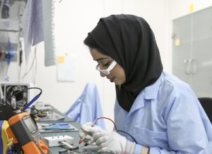 Students from the American University of Sharjah worked with MBRSC to design and build the nanosatellite.