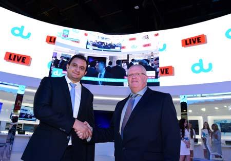ADM broadcasts LIVE HD channel on du media cloud