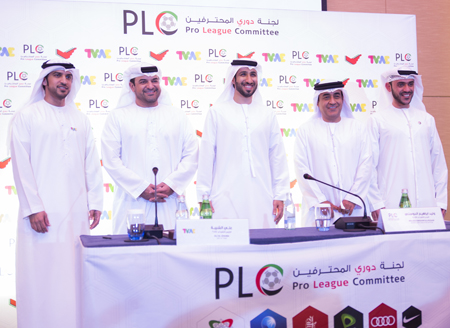 At the signing ceremony with TV.AE and Pro League Committee.