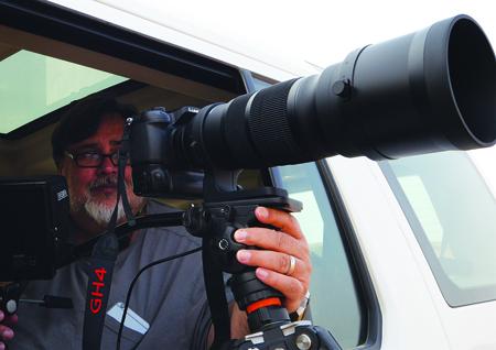Jonathan Ali Khan filming.