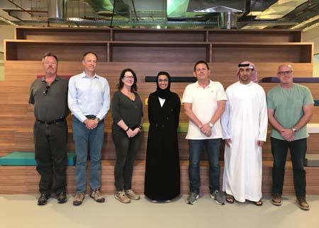HE Noura Al Kaabi, Chairwoman of Media Zone Authority-Abu Dhabi and Jassim Al Nowais of ADFC meet with international film executives.