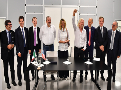 Virgin Galactic signs framework with ALTEC and SITAEL
