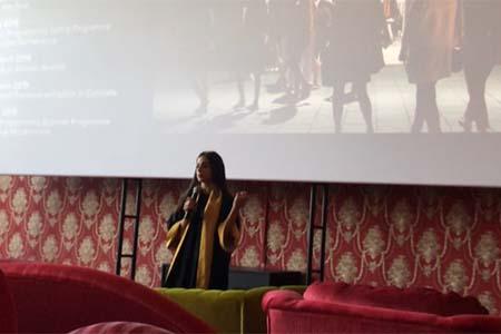 Butheina Hamed Kazim at the launch of Cinema Akil at Al Serkal Avenue, Dubai