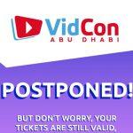 Inaugural VidCon Abu Dhabi event postponed to December
