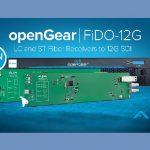 AJA announces new openGear fiber to 12G-SDI converters